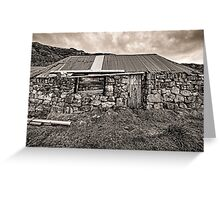 Disused Croft House Greeting Card
