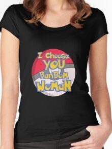 Random Woman Pokeball Women's Fitted Scoop T-Shirt