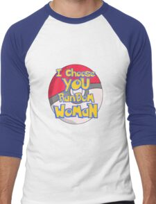 Random Woman Pokeball Men's Baseball ¾ T-Shirt
