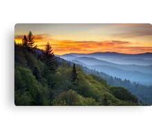 Great Smoky Mountains National Park - Morning Haze at Oconaluftee Canvas Print