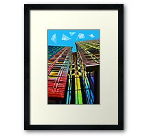 Colors in the City (with clouds) Framed Print