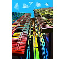 Colors in the City (with clouds) Photographic Print
