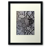Abstract Doodle Print Framed Print