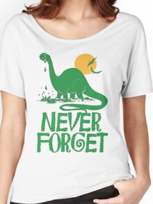 Never Forget Dinosaur Women's Relaxed Fit T-Shirt