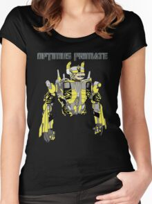 Optimus Primate Women's Fitted Scoop T-Shirt