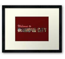 Welcome to Diamond City - Typographic Framed Print
