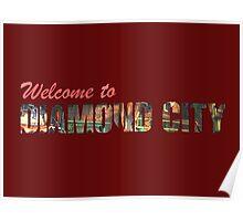 Welcome to Diamond City - Typographic Poster
