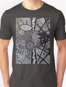 Abstract Doodle Print T-Shirt