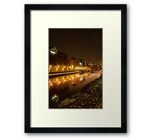 Leeds and Liverpool Canal | Leeds@Night Framed Print