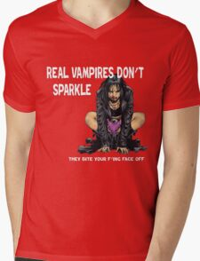 Real Vampires Don't Sparkle... Mens V-Neck T-Shirt