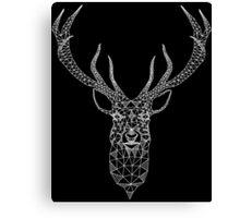 White Christmas Modern Geometric Deer  Canvas Print