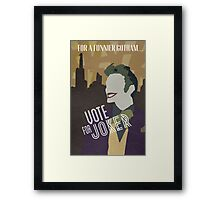 Vote For Joker Framed Print