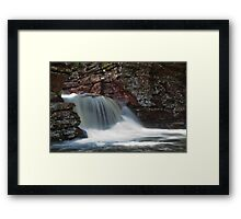 silky fountain Framed Print