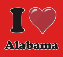I Heart / Love Alabama by HighDesign