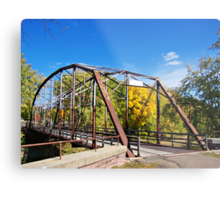 Cherry Rock Bridge Metal Print