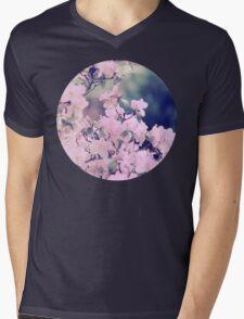 Pink Blossoms Mens V-Neck T-Shirt