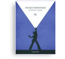 Pocket Monsters - Version Blue Canvas Print