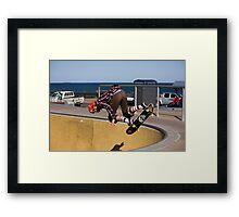 Backside Corner Ollie Air - Empire Park Skate Park Framed Print