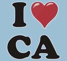 I Heart / Love CA by HighDesign