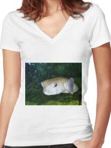 Pout Pout Fish Women's Fitted V-Neck T-Shirt