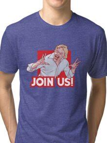 Evil ED from Evil Dead 2 Tri-blend T-Shirt
