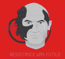 Resistance was Futile - Picard, Locutus of Borg One Piece - Short Sleeve