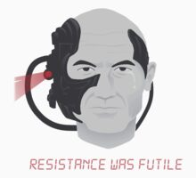 Resistance was Futile - Picard, Locutus of Borg Kids Tee