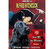 English Cocker Spaniel Art - Dial M for Murder Movie Poster Photographic Print