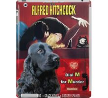English Cocker Spaniel Art - Dial M for Murder Movie Poster iPad Case/Skin