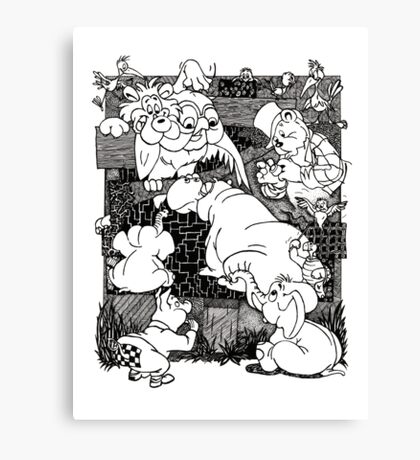 Cartoons Canvas Print