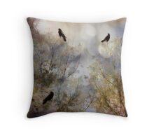 Crow bling Throw Pillow