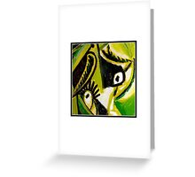 feeling green Greeting Card