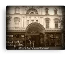 Royal Arcade Melbourme Canvas Print