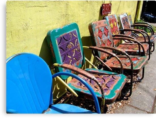 Colorful Chairs by Ashli Amabile