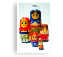 Babooshka family Canvas Print
