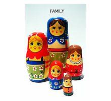 Babooshka family Photographic Print