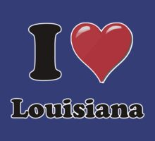 I Heart / Love Louisiana  by HighDesign
