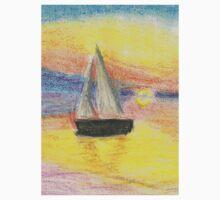 Sunset-Sailboat Kids Tee