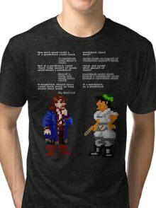 would woodchuck chuck wood Tri-blend T-Shirt