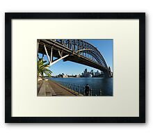 They're good at building bridges in Sydney Framed Print