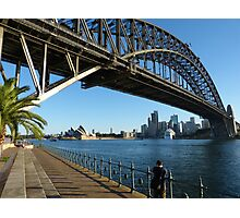 They're good at building bridges in Sydney Photographic Print