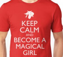 Keep Calm and Become a Magical Girl 1 (Kyubey) Unisex T-Shirt