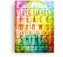 Ævolve Motto (Rainbow) Canvas Print