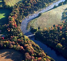 The Grand River Route........... birds eye view... by Larry Llewellyn