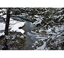 Bow River Falls Winter Photographic Print