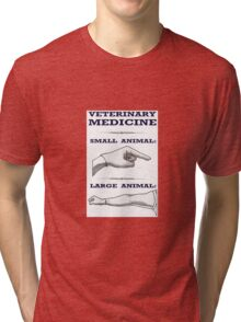 Veterinary Medicine - Large vs. Small Animal Tri-blend T-Shirt