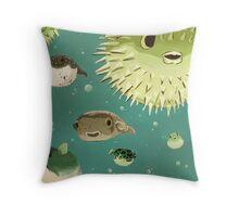 The Blowfish Recumbent Throw Pillow