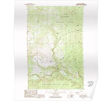USGS Topo Map Washington State WA Aeneas 239754 1988 24000 Poster