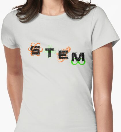 STEM - Slanted Womens Fitted T-Shirt
