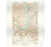 USGS Topo Map Washington State WA Lincoln 242014 1950 62500 Poster